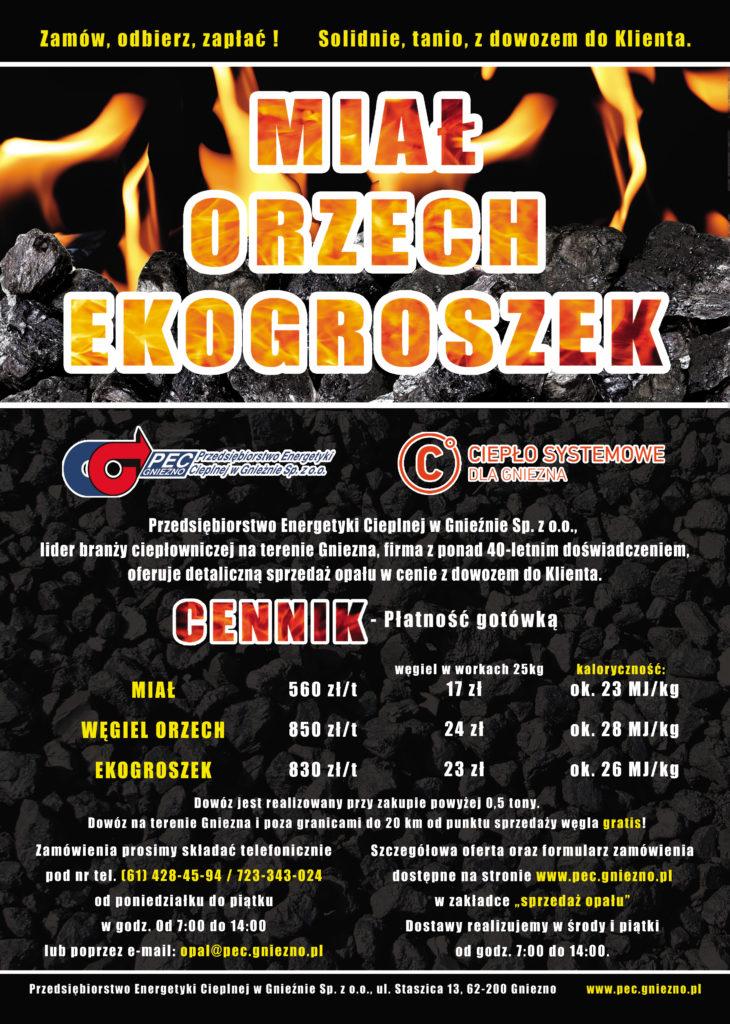 X 2018 sprzedaż opału MIAŁ-ORZECH-EKOGROSZEK